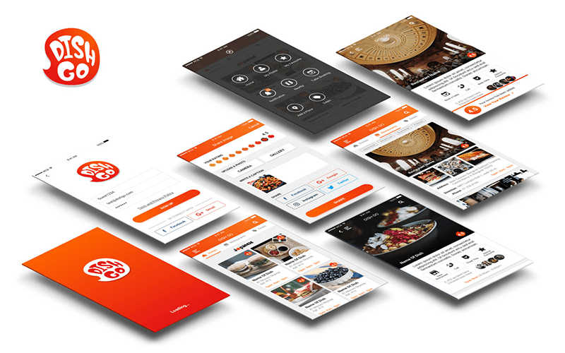 DishGo App UX and UI Design