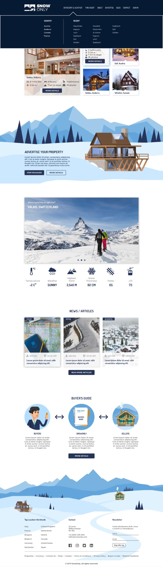 Snow Only Page