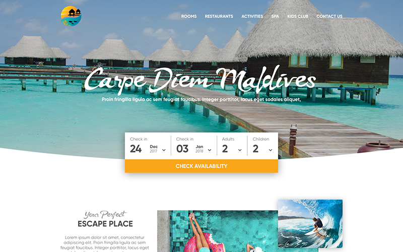 Carpe Diem Maldives Website Design