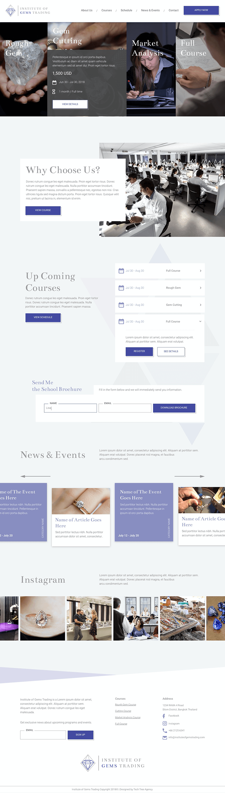 The Gem School Website UX and UI Design