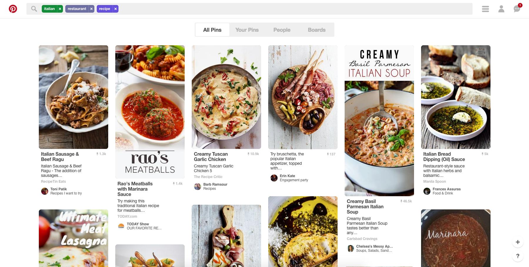 Pinterest Italian Restaurant Recipe