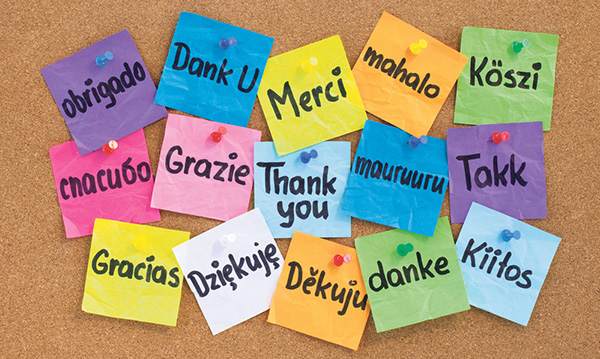 multi language thankyou post it notes