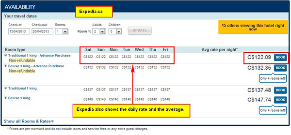 expedia online booking form