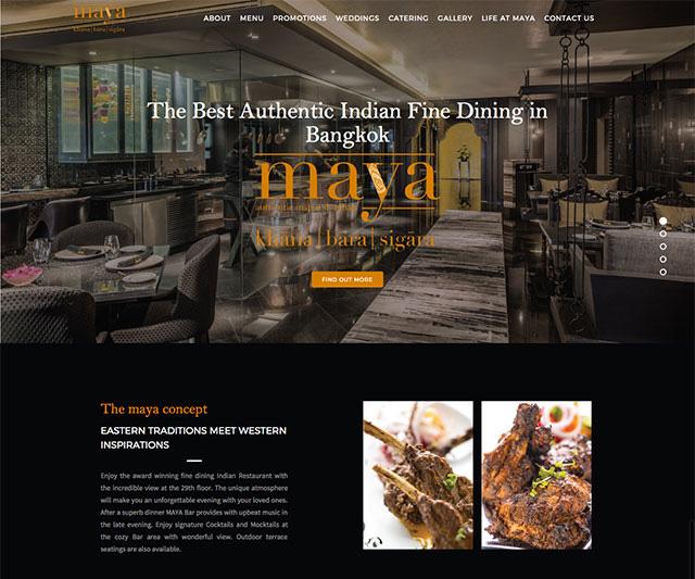 Maya Website UX UI Design and Development