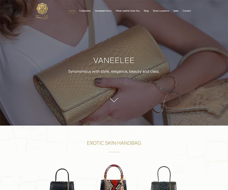 Vaneelee Website UX and UI Design