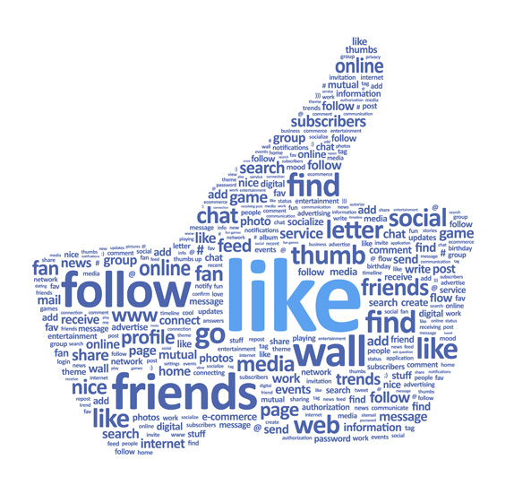social media hand