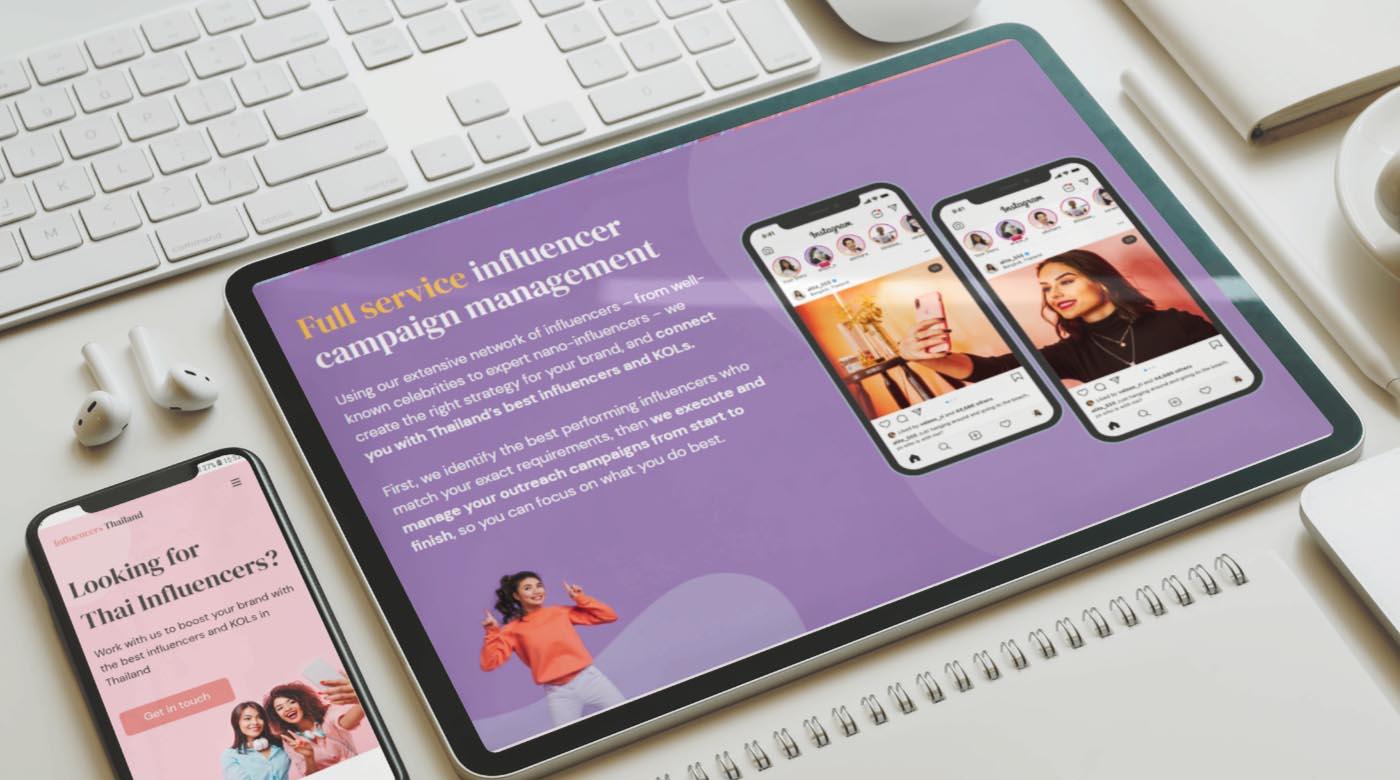 influencer web design